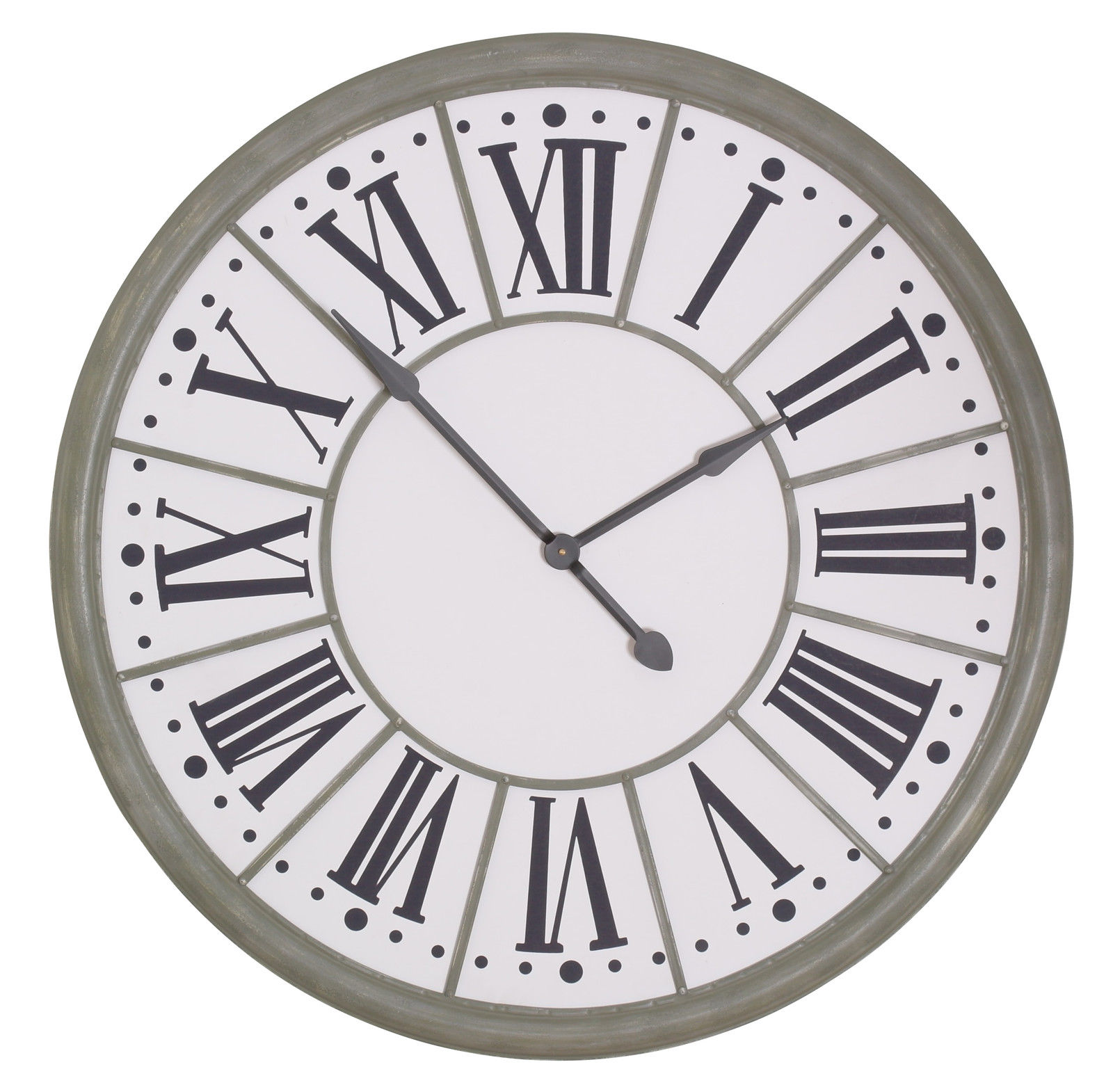 109cm Zinc Effect Wall Clock