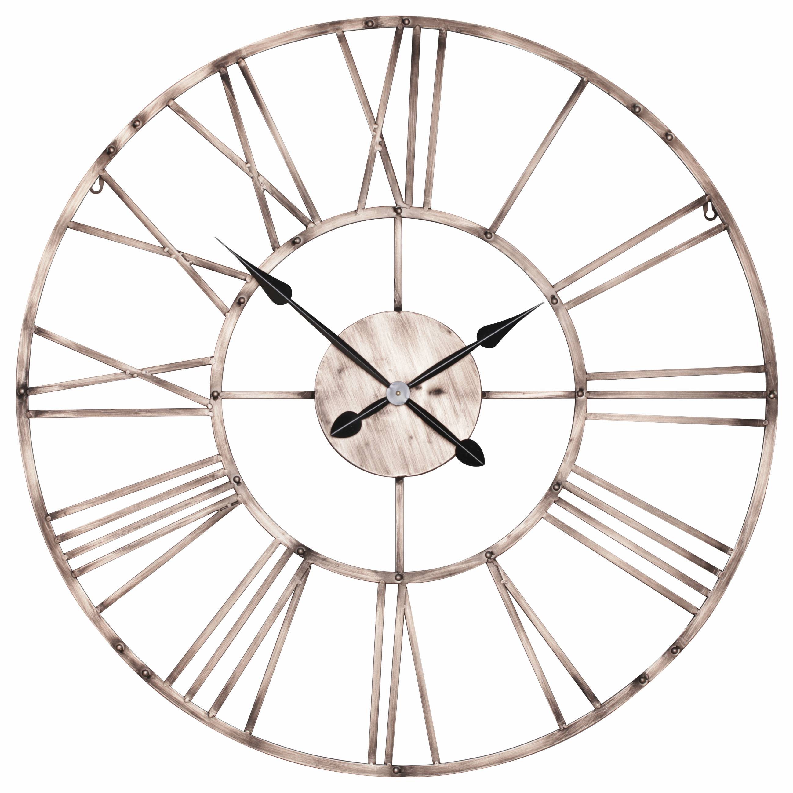 Vintage Copper Effect 92cm Wall Clock