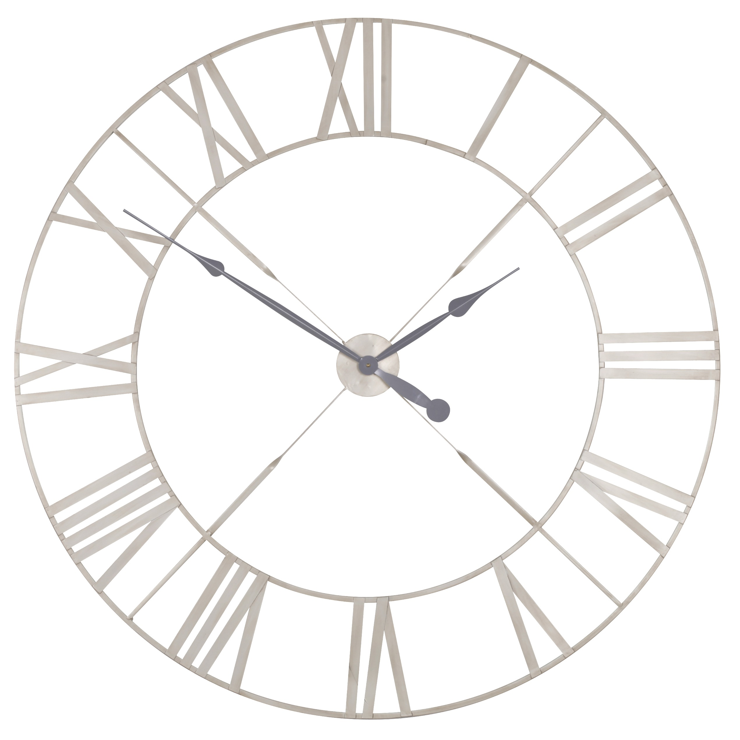 Vintage Cream Distressed 110cm Twist Frame Wall Clock