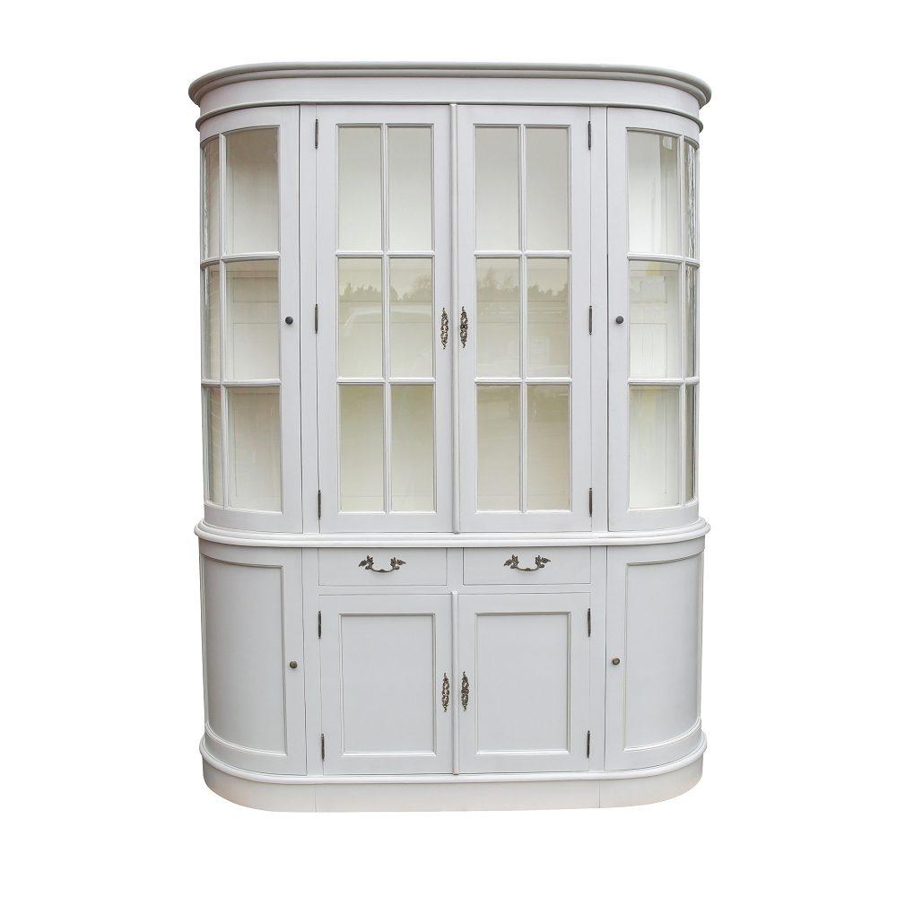 Large Grey Dresser Display Cabinet