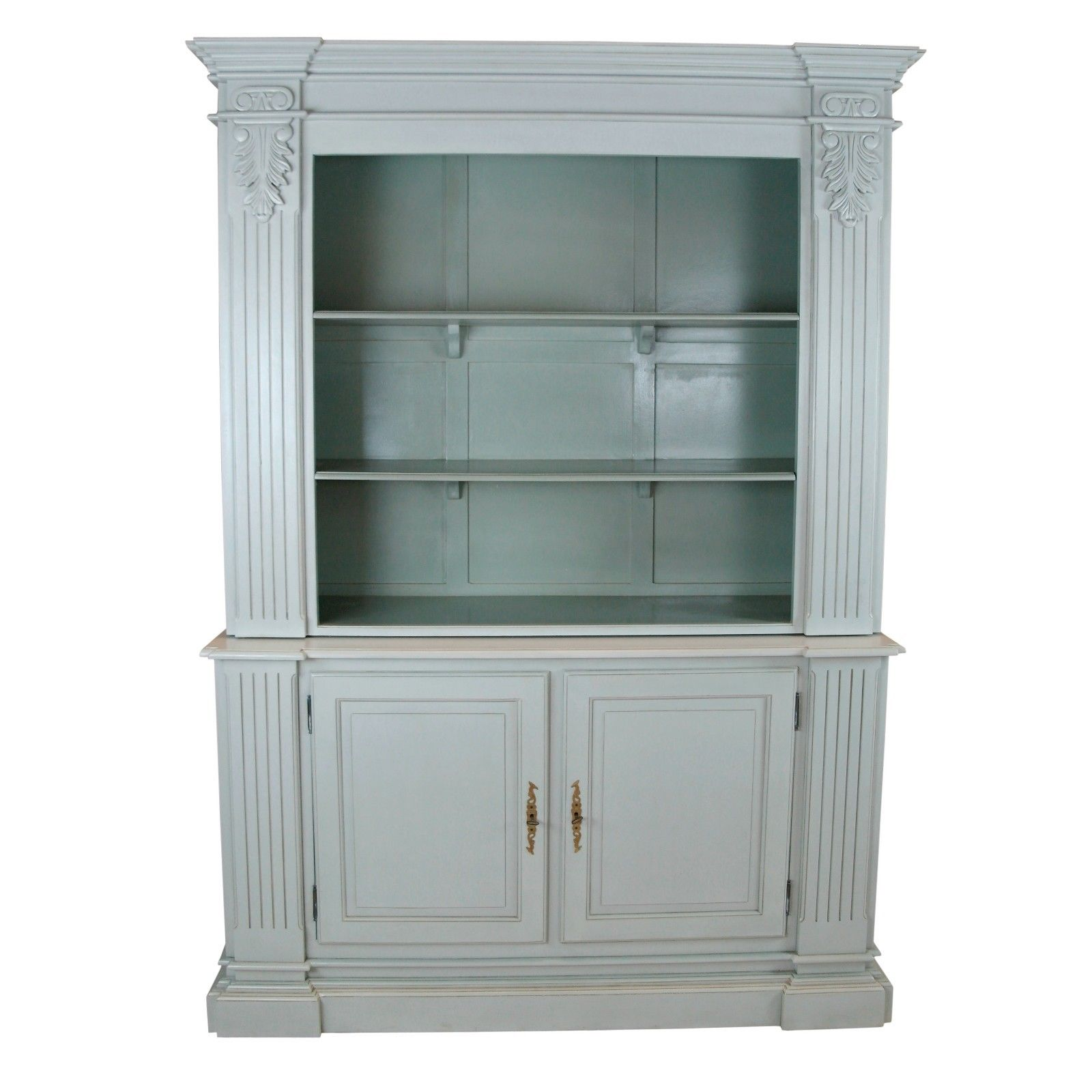 Large Grey Open Bookcase