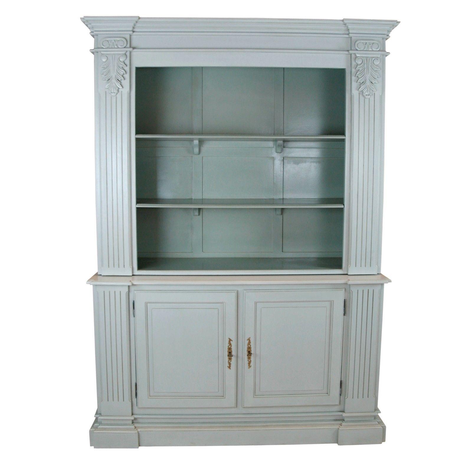 Large Grey Open Bookcase