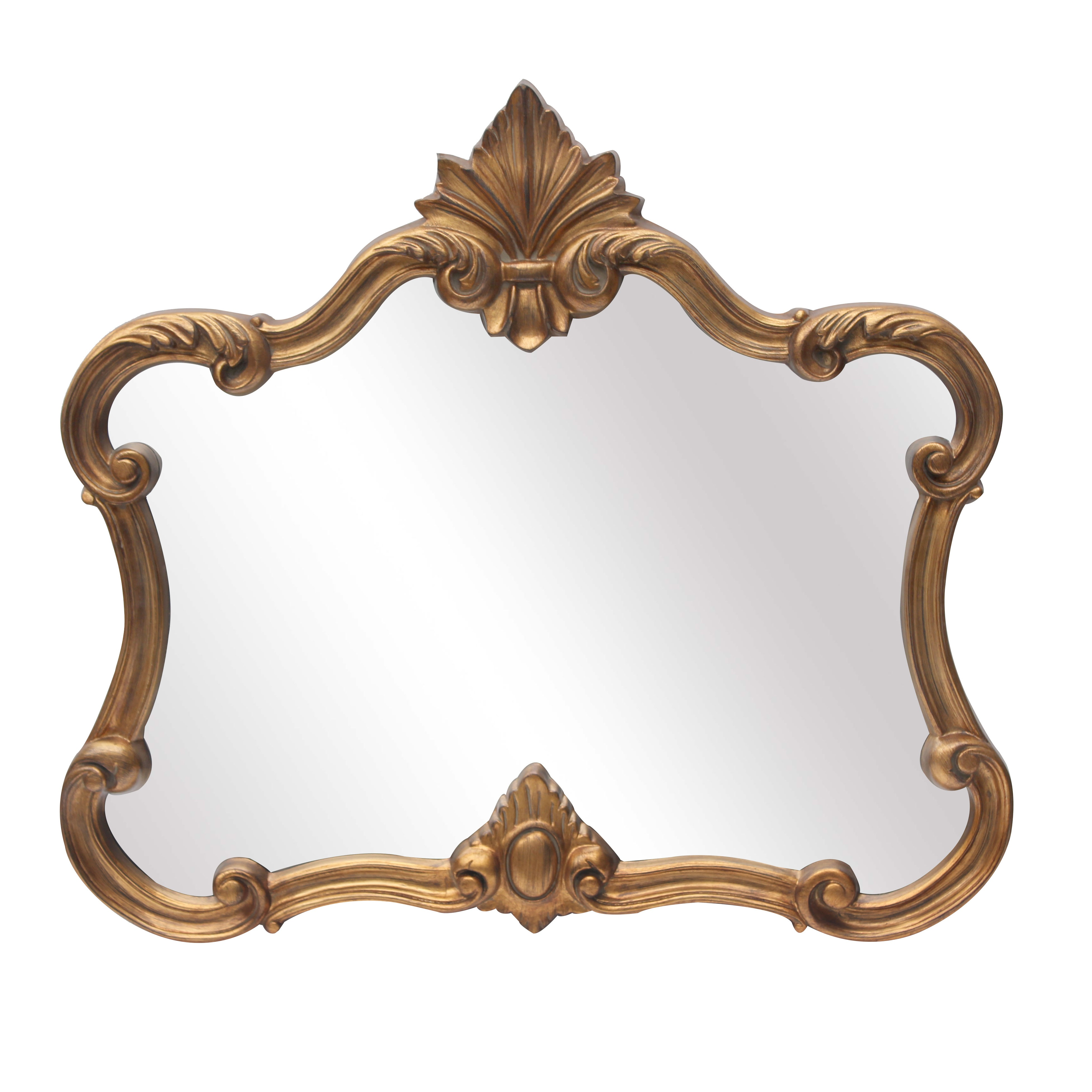 Gold Ornate Overmantle Mirror