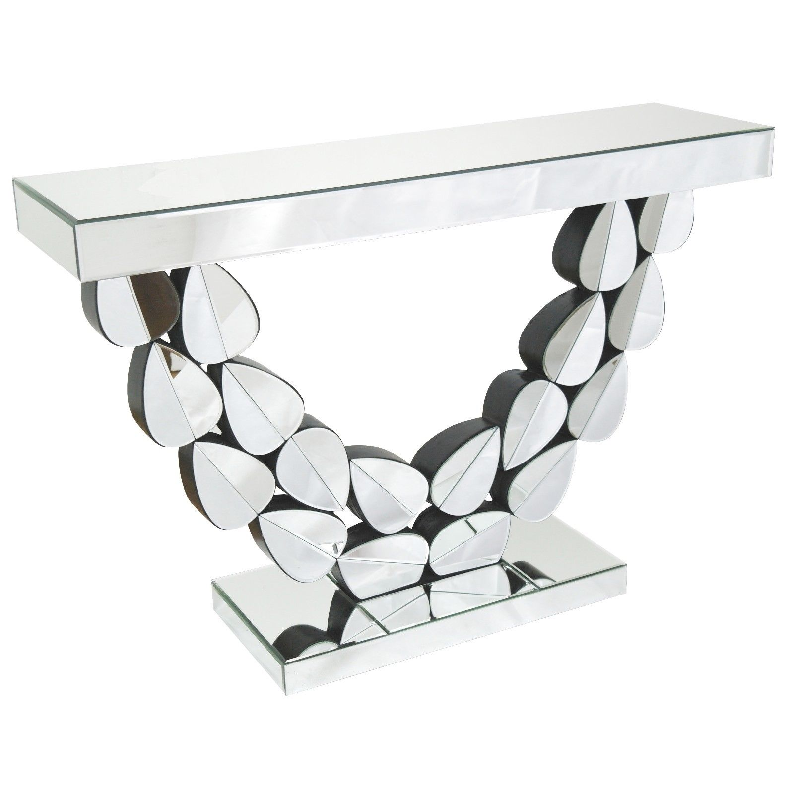 Venetian Mirror Leaves Console Table