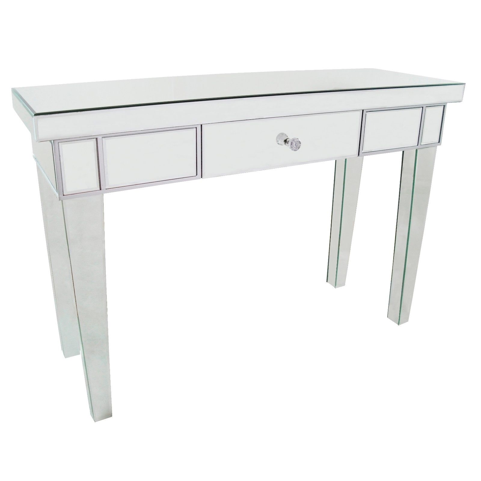 Silver Venetian Mirror Console with Drawer