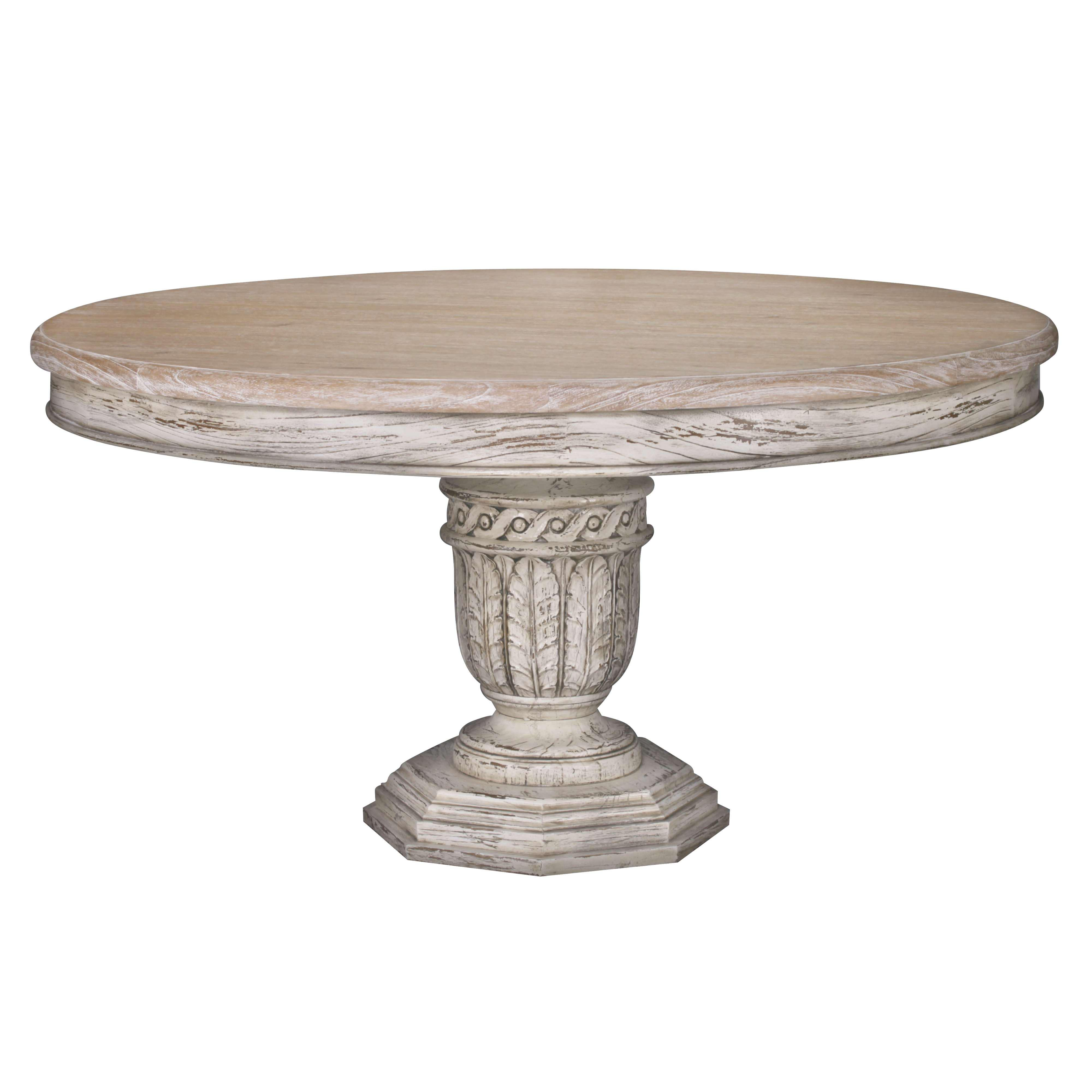 Heavy Distressed 145cm Round Dining Table