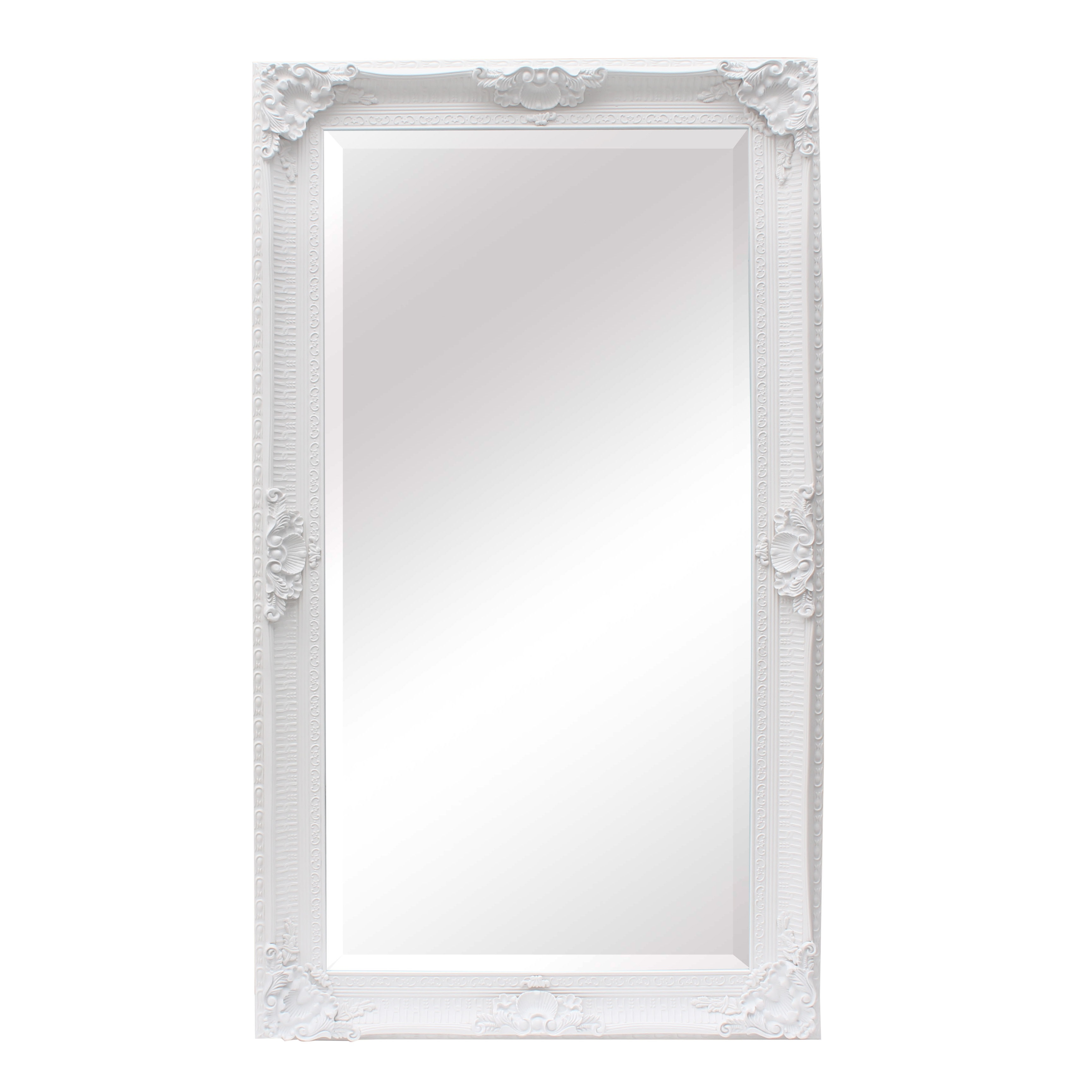 Extra Large Ornate White Mirror