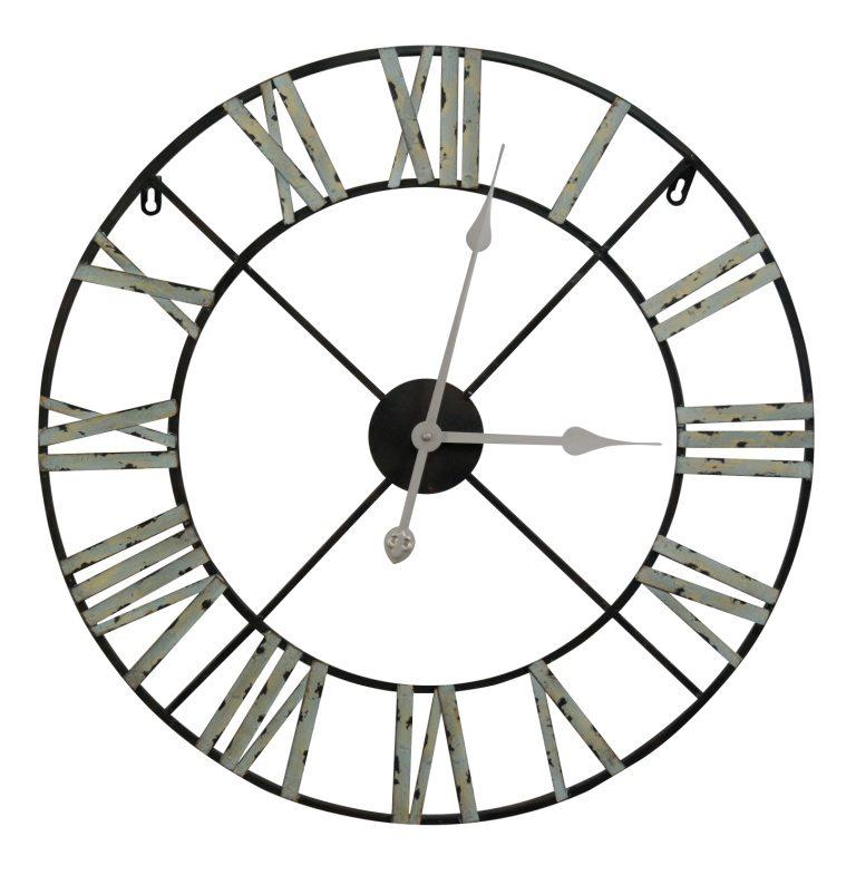 Medium 60cm Vintage Metal Wall Clock