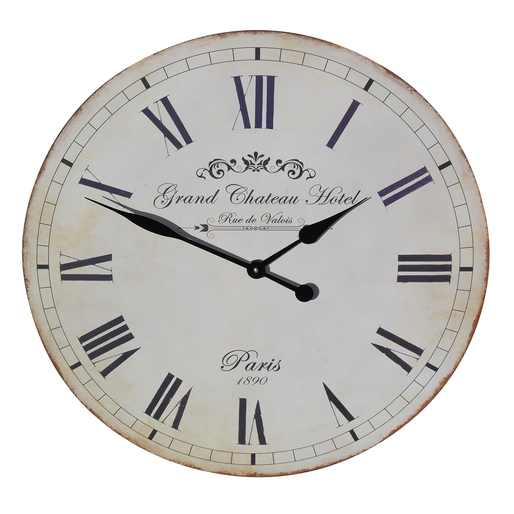 Large Grand Chateau Hotel 60cm Wall Clock