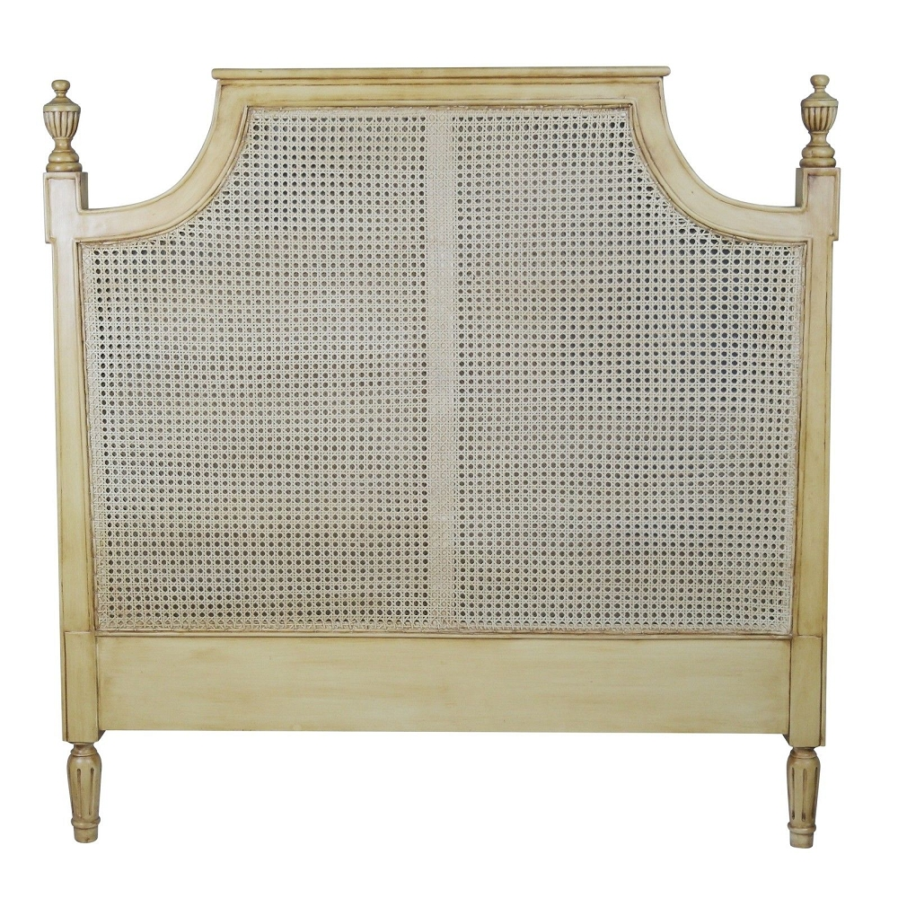 French Rattan Headboard 4tf6 Double