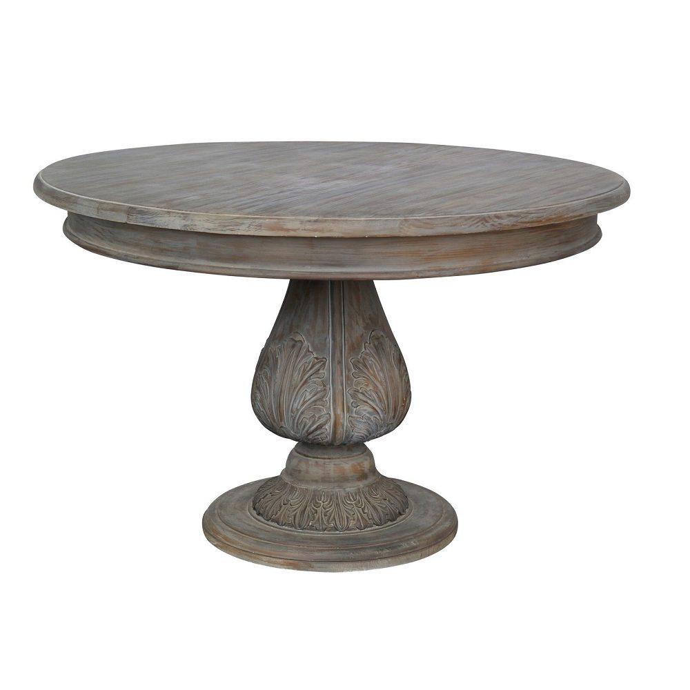 Round Pedestal Acorn Dining Table 120cm