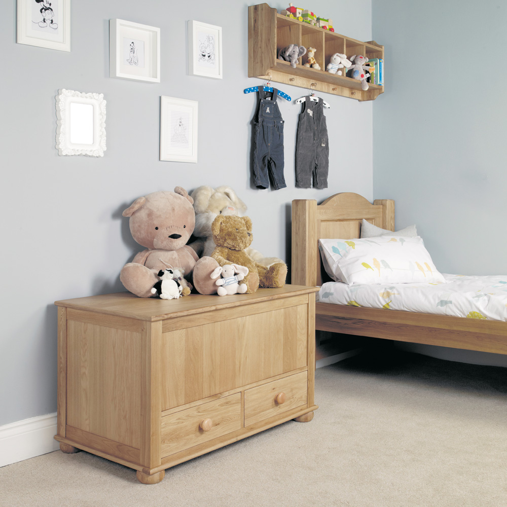 Amelie Oak Toy box / Blanket Box