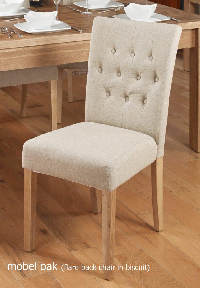 Oak Full Back Upholstered Dining Chair – Hazelnut (Pack of Two)