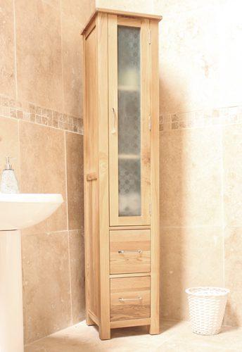 Mobel Oak Closed Bathroom Unit Tall