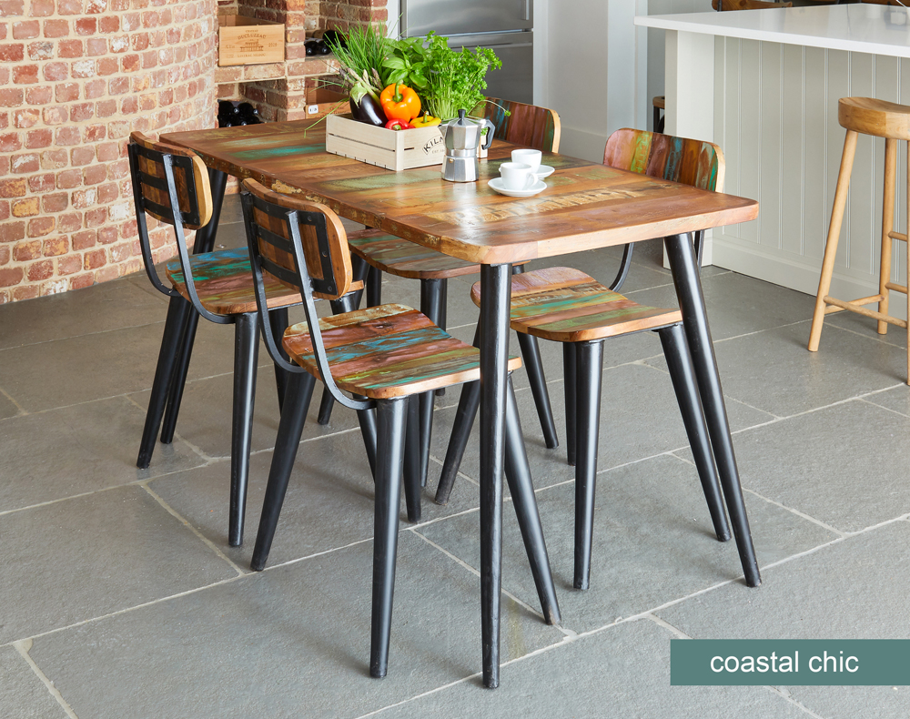 Coastal Chic Small Rectangular Dining Table