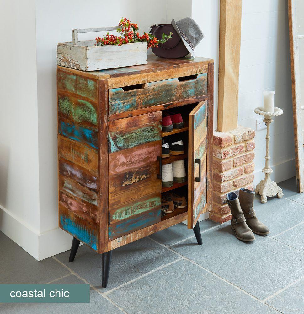 Coastal Chic Shoe Cupboard