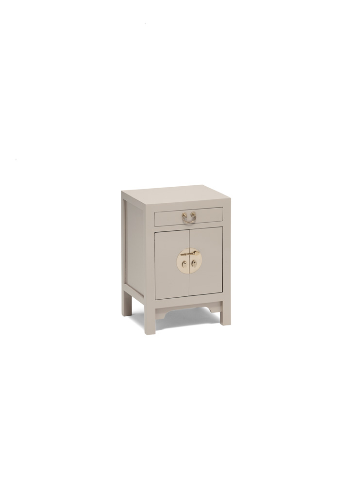 The Nine Schools Qing Oyster Grey Small Cabinet
