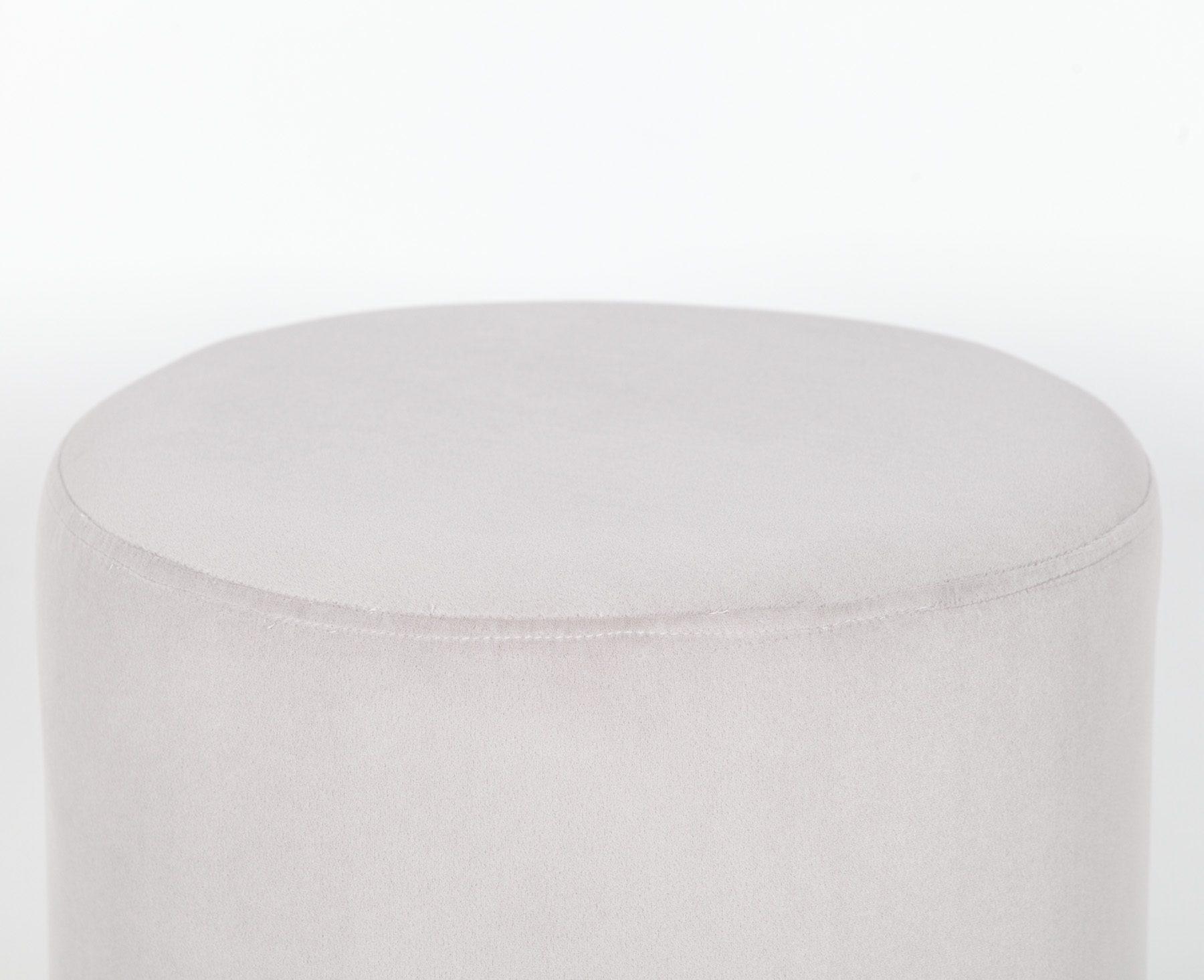 Grey Round Stool