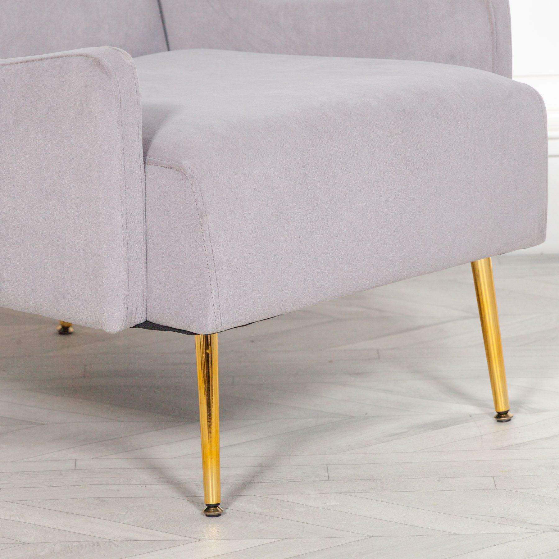 Grey Velvet Sofa Chair