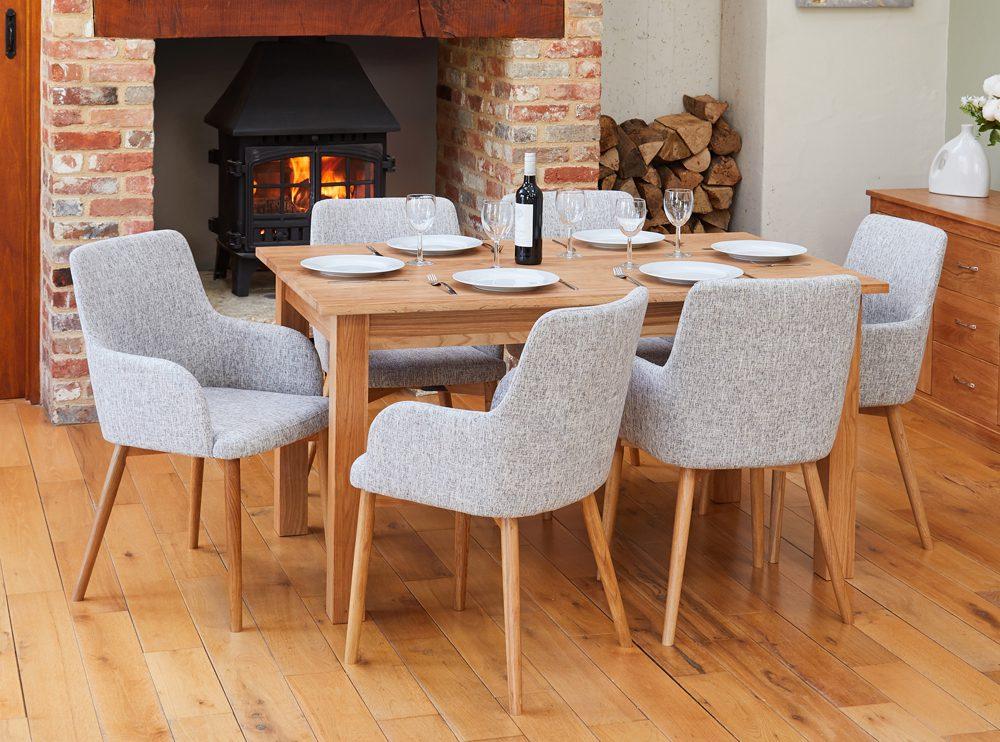 BUNDLE – Mobel COR04B Table with 6 x COR03M Chairs