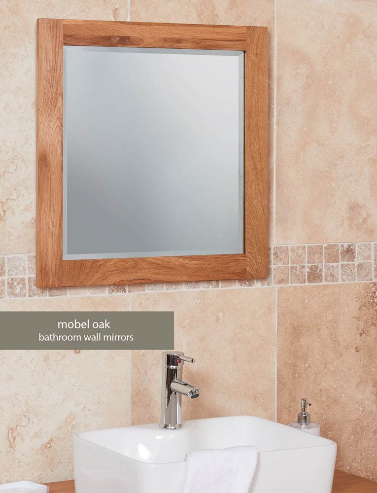 Bathroom Collection – Solid Oak Mirror (Large)