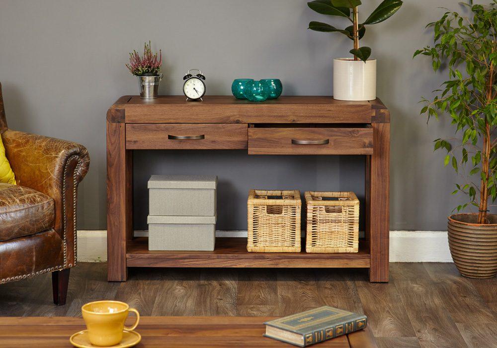 Shiro Walnut Console Table