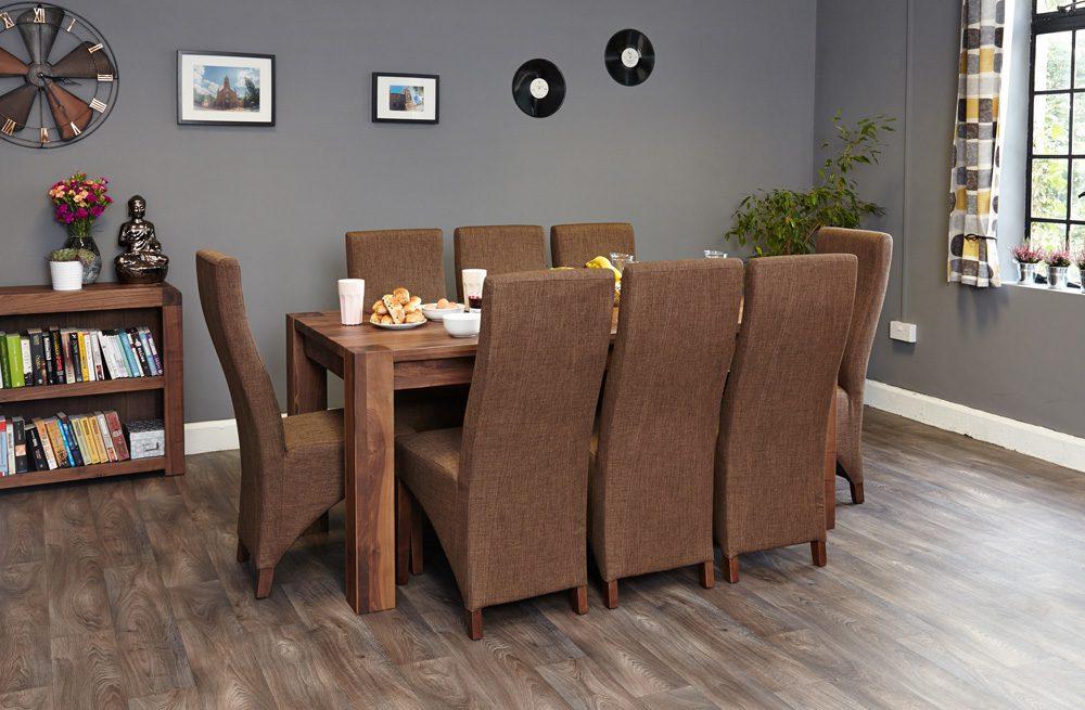 Walnut Large Dining Table (Seats 6-8)