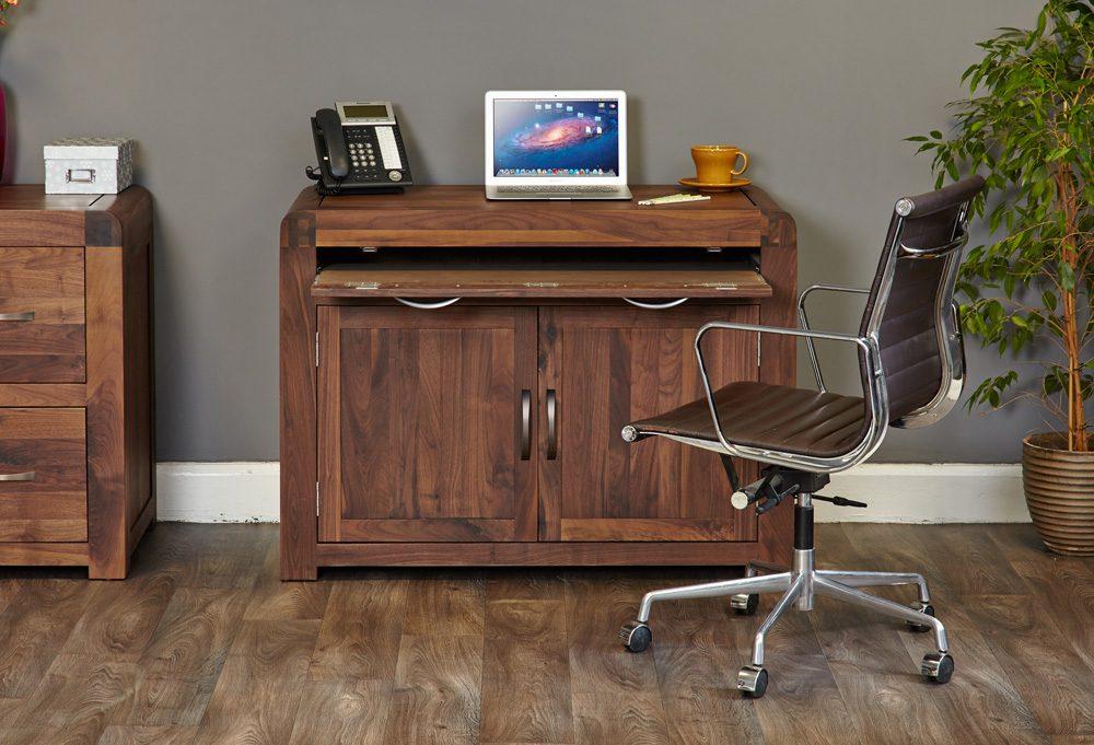 Shiro Walnut Hidden Home Office
