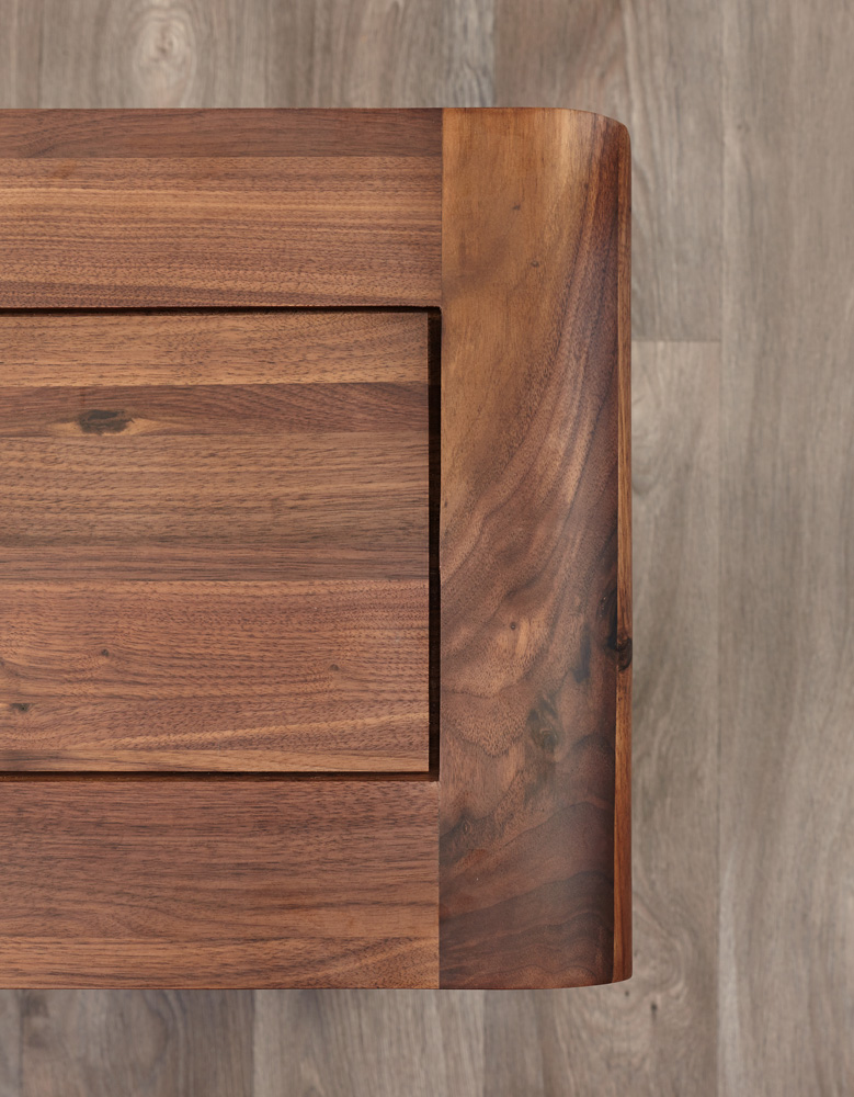 Shiro Walnut Two Drawer Filing Cabinet