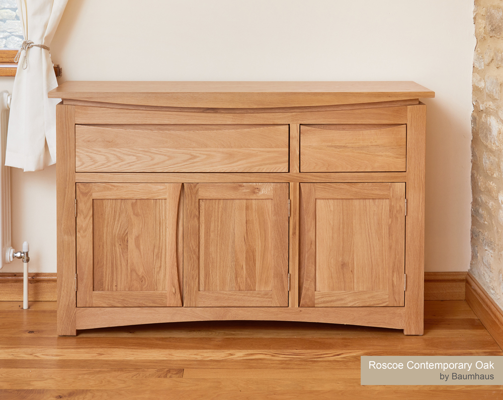 Roscoe Contemporary Oak Large Sideboard