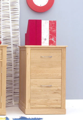 Mobel Oak Two Drawer Filing Cabinet