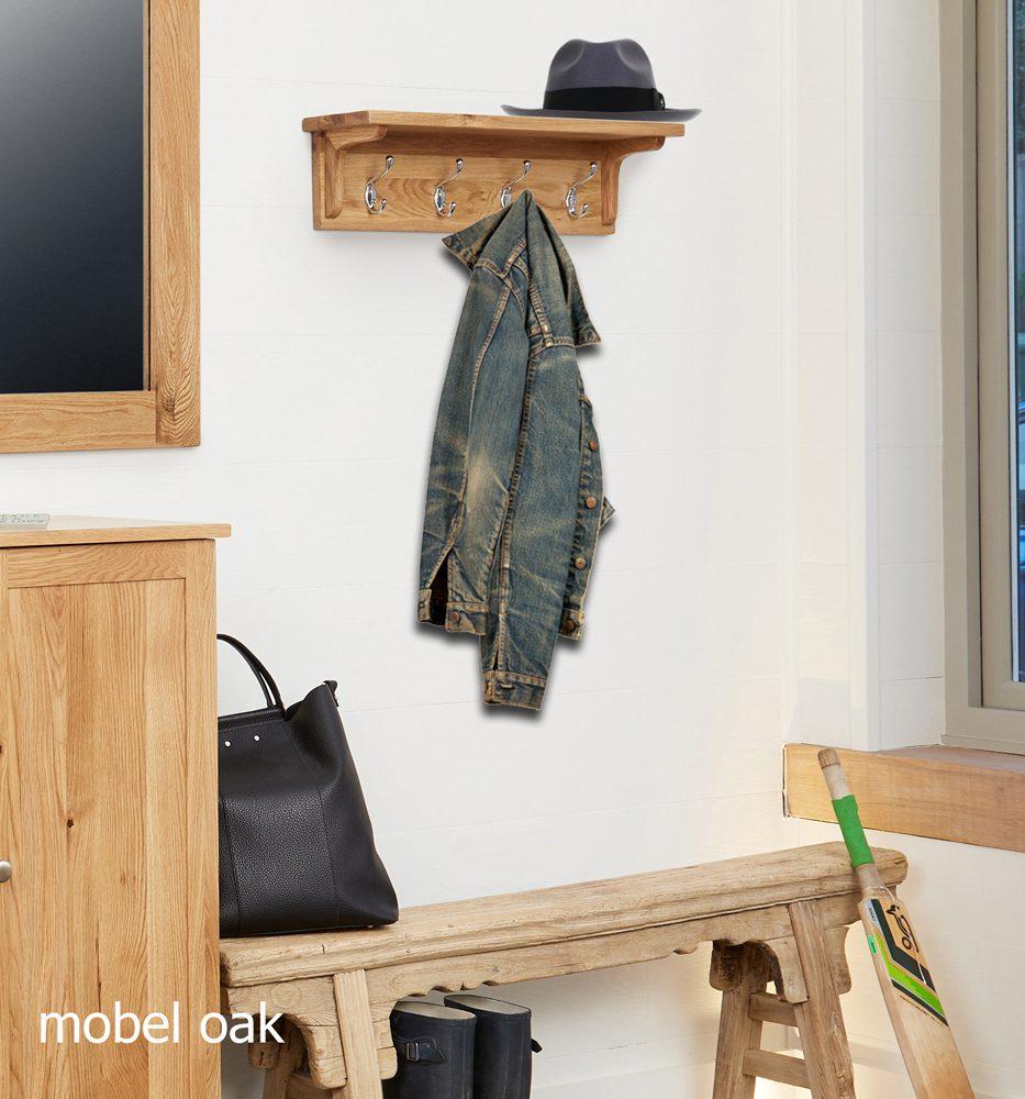 Mobel Oak Wall Mounted Coat Rack