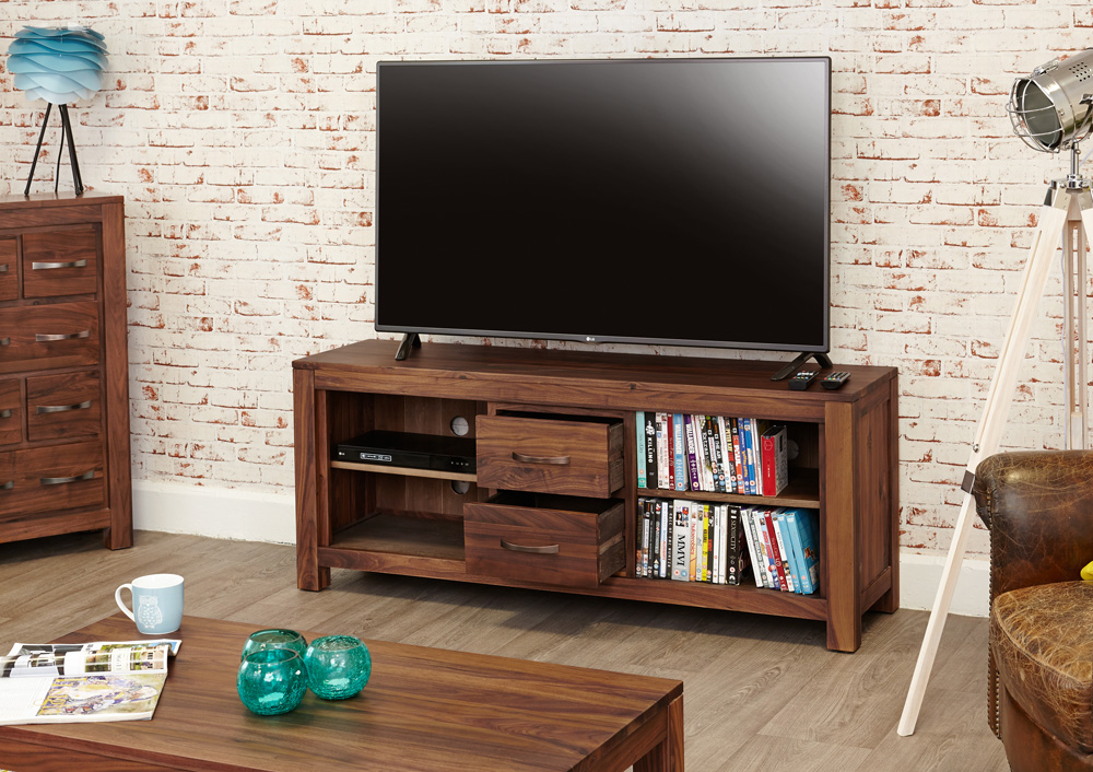 Mayan Walnut Widescreen Television Cabinet