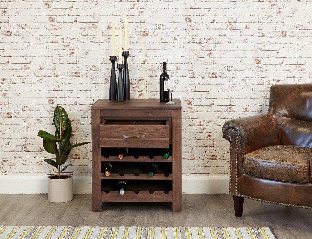 Mayan Wine Rack Lamp Table