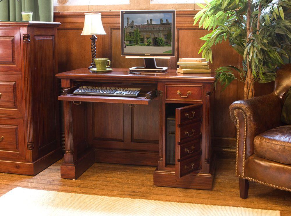 La Roque Single Pedestal Computer Desk