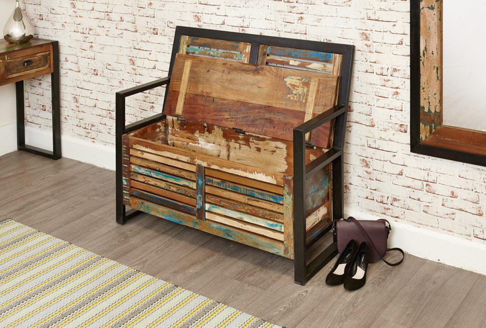 Urban Chic Storage Monks Bench (with shoe storage)