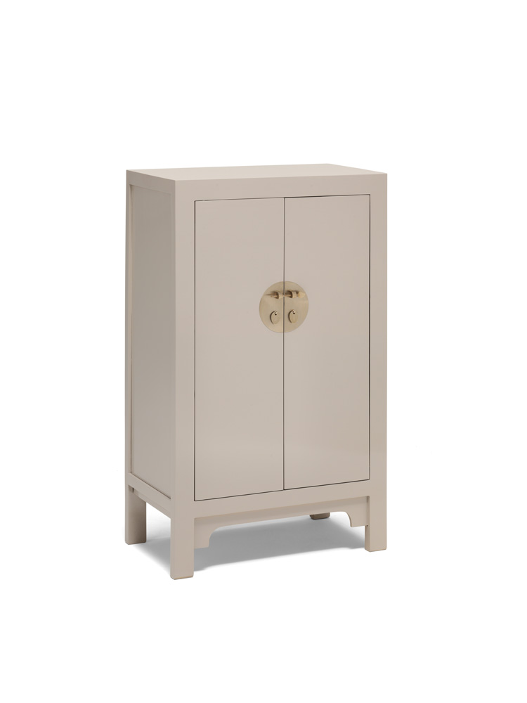 The Nine Schools Qing Oyster Grey Medium Cabinet