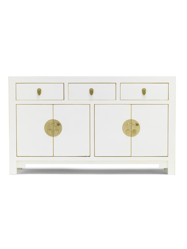 The Nine Schools Qing White Large Sideboard