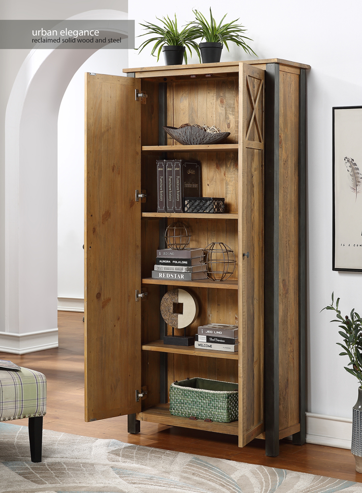 Urban Elegance – Reclaimed Living Room Storage Cabinet