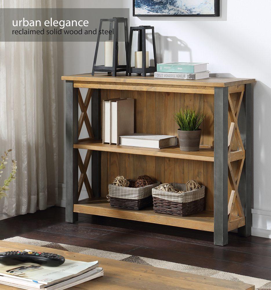 Urban Elegance – Reclaimed Low Bookcase
