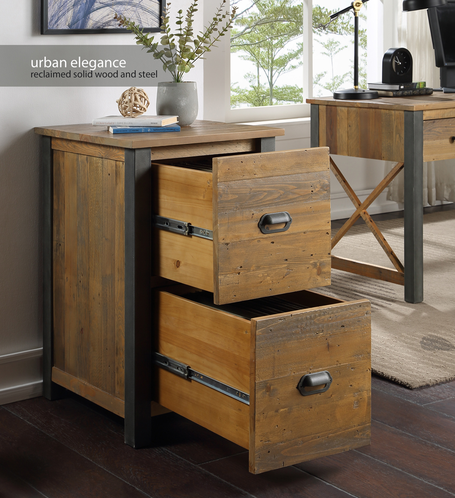 Urban Elegance – Reclaimed Two Drawer Filing Cabinet