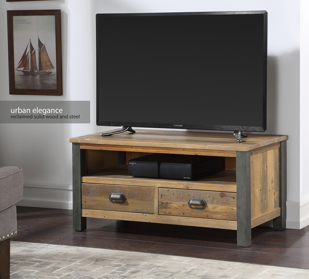 Urban Elegance – Reclaimed Widescreen TV Cabinet