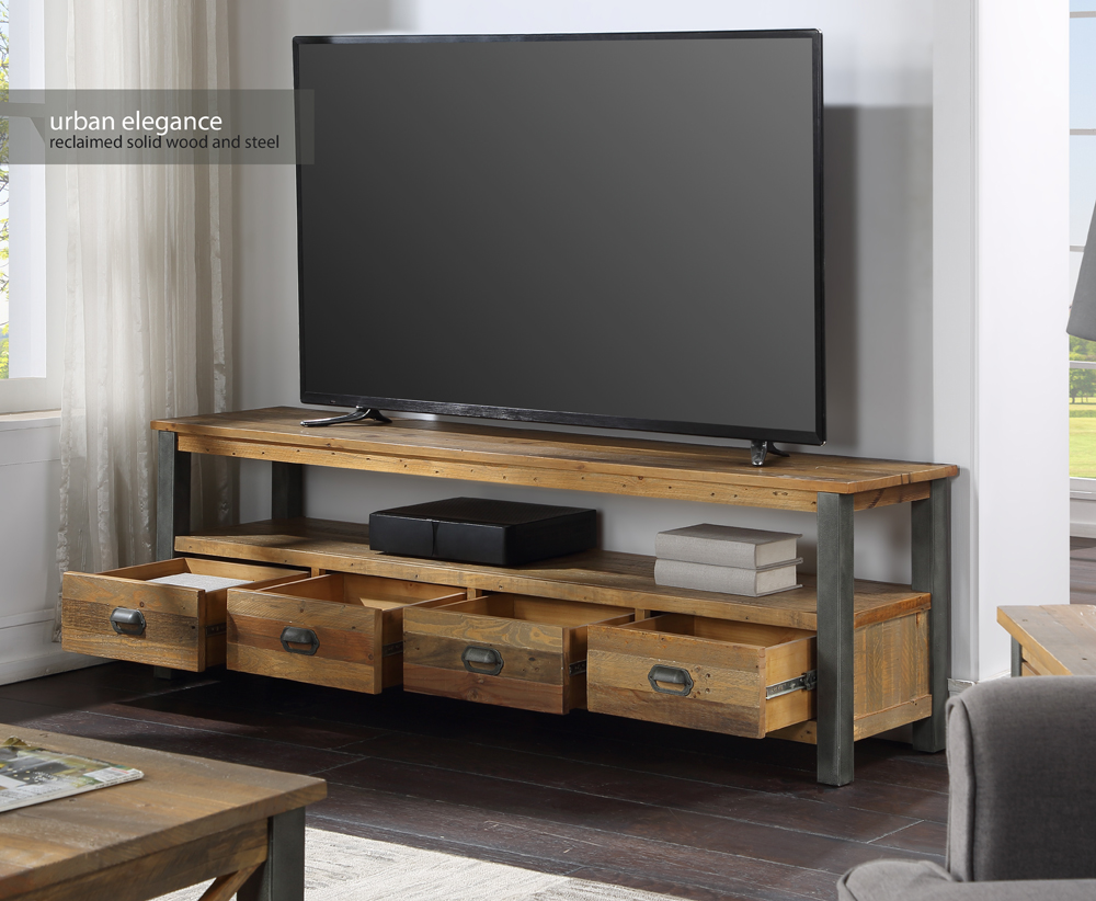 Urban Elegance – Reclaimed Extra Large Widescreen TV unit