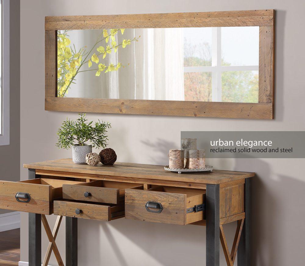 Urban Elegance – Reclaimed Extra Long Wall Mirror