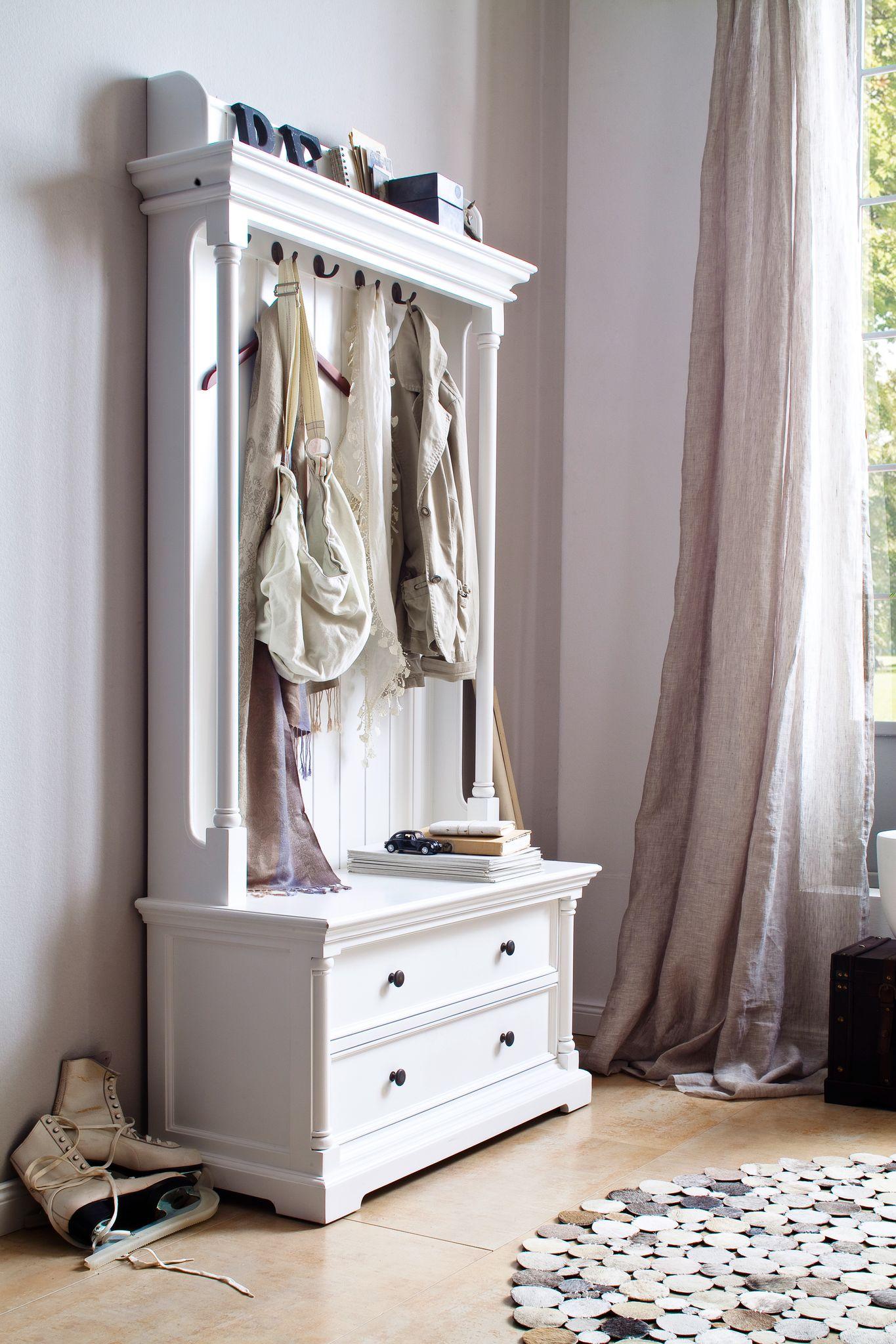 Coat hanger unit w/2 drawers