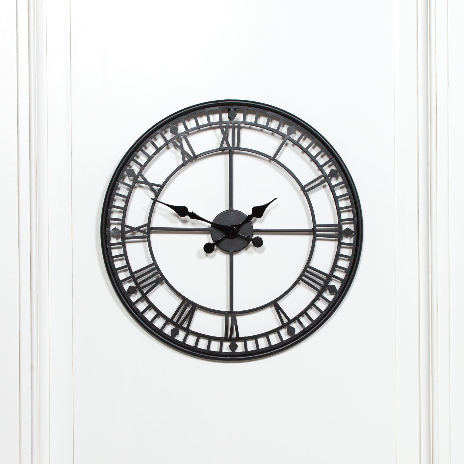 Black 55cm Metal Wall Clock