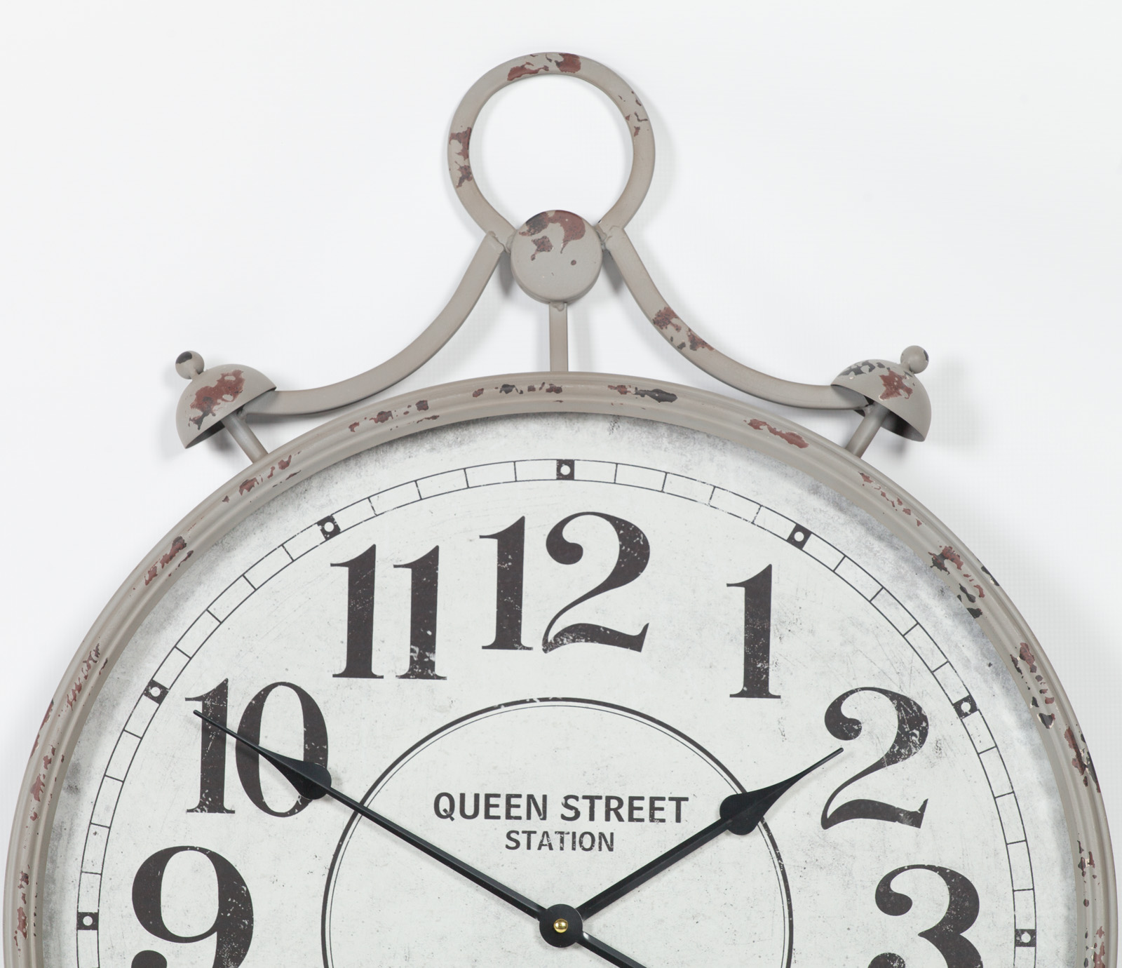 Pocket Watch Vintage Metal Wall Clock with Glass Front