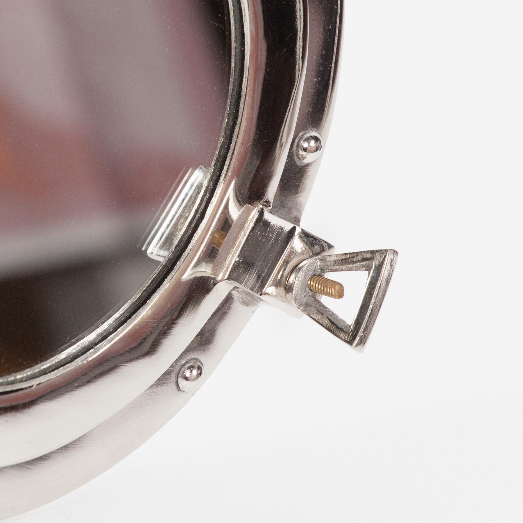 Polished Port Hole Mirror