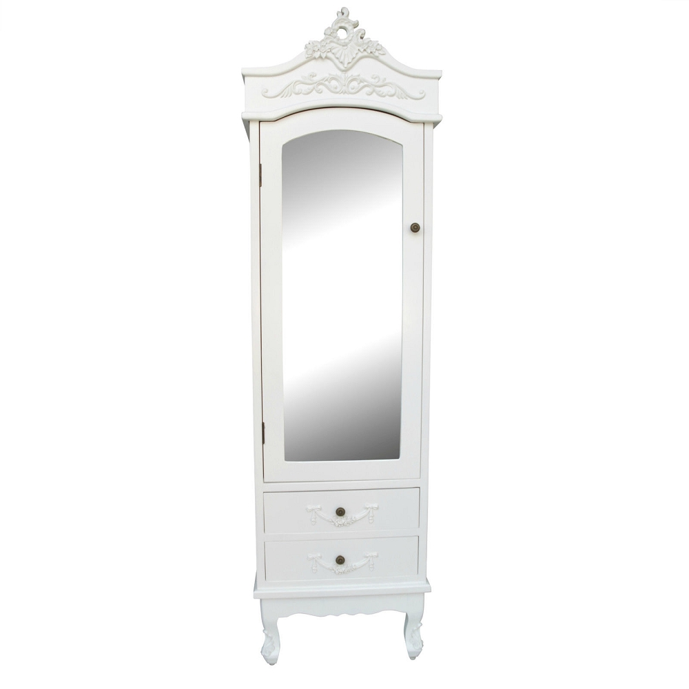 French White Armoire with Drawers
