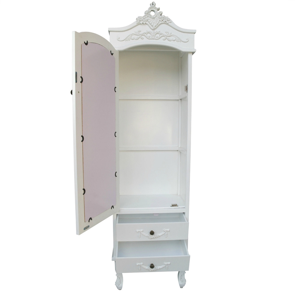 French Cream Armoire with Drawers